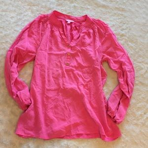 Lilly Pulitzer Pink Blouse Sz Large